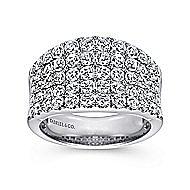 14K W.Gold Diamond Ladies' Ring
