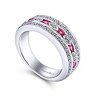 14K White Gold  Fashion Ladies' Ring