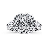 14K White Gold Diamong Engagement Ring