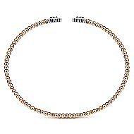 14K White-Pink Gold Fashion Bangle