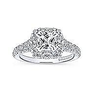 14K White-Rose Gold Diamond Eng Ring