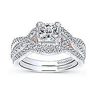 14K White-Rose Gold Engagement Ring