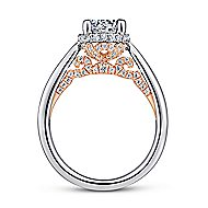 14K White-Rose Gold Engagement Ring