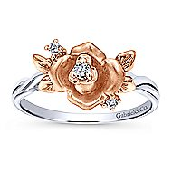 14K White-Rose Gold Fashion Ladies' Ring