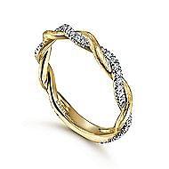 14K Y.Gold Diamond Ladies' Ring