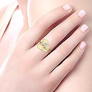 14K Y.Gold Diamond Ladies' Ring