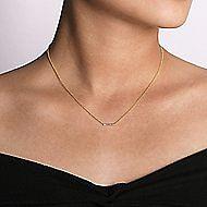 14K Y.Gold Diamond Necklace