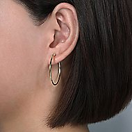 14K Yellow Gold 30MM Fashion Earrings