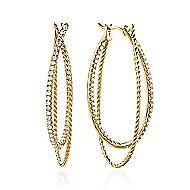 14K Yellow Gold 45MM Fashion Earrings