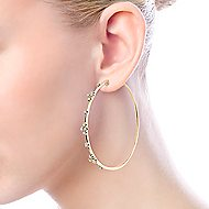 14K Yellow Gold 60MM Fashion Earrings