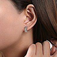 14K Yellow-White Gold 10MM Fashion Earrings