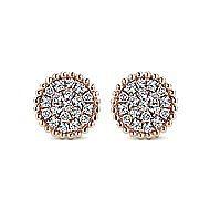 14k Rose Gold Bujukan Stud Earrings angle 1