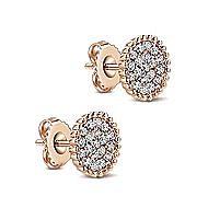 14k Rose Gold Bujukan Stud Earrings angle 2