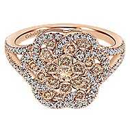14k Rose Gold Cocoa Classic Ladies Ring