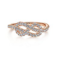 14k Rose Gold Eternal Love Fashion Ladies' Ring angle 1