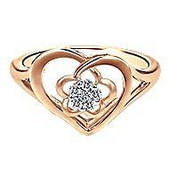 14k Rose Gold Eternal Love Fashion Ladies' Ring angle 1