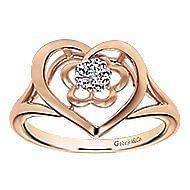 14k Rose Gold Eternal Love Fashion Ladies Ring