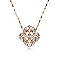 14k Rose Gold Flirtation Fashion Necklace angle 1