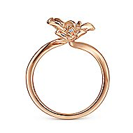 14k Rose Gold Floral Fashion Ladies' Ring angle 2