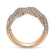 14k Rose Gold Hampton Wide Band Ladies' Ring angle 2