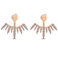14k Rose Gold Kaslique Enhancer Earrings