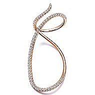 14k Rose Gold Kaslique Twisted Ladies Ring