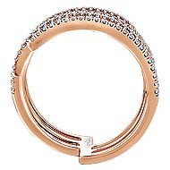 14k Rose Gold Layered Wide Band Ladies Ring