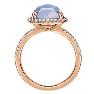 14k Rose Gold Lusso Color Classic Ladies Ring