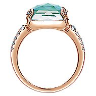 14k Rose Gold Lusso Color Classic Ladies Ring