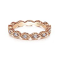 14k Rose Gold Midi Ladies' Ring angle 1