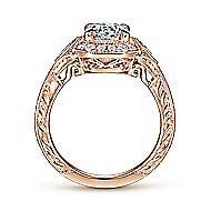 14k Rose Gold Round Halo Engagement Ring
