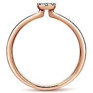 14k Rose Gold Silk Fashion Ladies' Ring angle 2