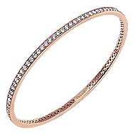 14k Rose Gold Stackable Bangle angle 2