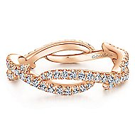 14k Rose Gold Stackable Eternity Stackable Ladies' Ring angle 1