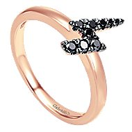 14k Rose Gold Stackable Fashion Ladies' Ring angle 3