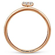 14k Rose Gold Stackable Initial Ladies Ring