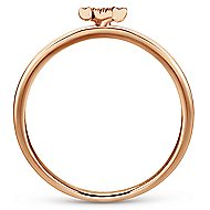 14k Rose Gold Stackable Initial Ladies' Ring angle 2