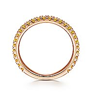 14k Rose Gold Stackable Ladies Ring