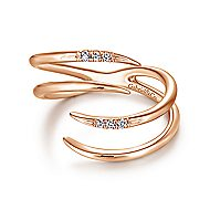 14k Rose Gold Trends Fashion Ladies' Ring angle 1