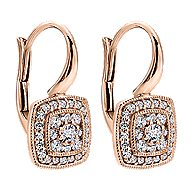 14k Rose Gold Victorian Drop Earrings angle 2