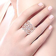 14k Rose Gold Victorian Twisted Ladies Ring