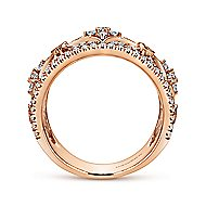 14k Rose Gold Victorian Wide Band Ladies' Ring angle 2
