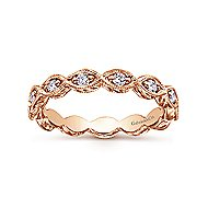 14k Rose Gold Vintage Inspired Ladies Midi Ring