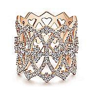 14k Rose Gold Vintage Inspired Openwork Twisted Ladies' Ring