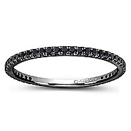 14k W W And Black Rhodium Contemporary Eternity Anniversary Band angle 5