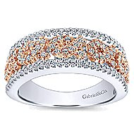 14k White And Rose Gold Care Collection Fashion Ladies' Ring angle 4