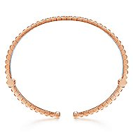 14k White And Rose Gold Contemporary Bangle