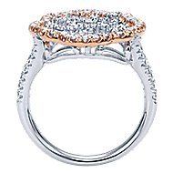 14k White And Rose Gold Flirtation Fashion Ladies' Ring angle 2