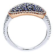 14k White And Rose Gold Lusso Color Fashion Ladies' Ring angle 2