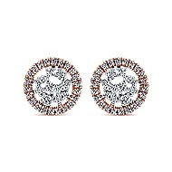 14k White And Rose Gold Lusso Stud Earrings angle 1